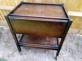 Wooden tea trolley