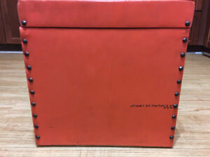 Vintage Hassock Record Case