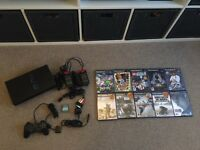 Retro Sony PlayStation 2 With 10 Games & More