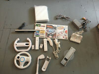 Nintendo Wii Lot with Games and Accessories