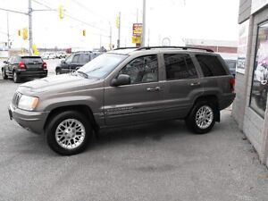 2002 GR.CHEROKEE LTD  V8  SUNROOF  LEATHER  LOCAL TRADE-IN !!