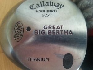 Big Bertha Callaway Warbird Right Handed No. 1 Driver 8.5deg