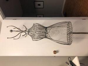Decorative clothing rack