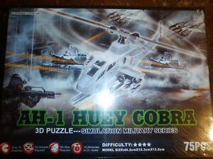 3D Puzzle Model AH-1 HUEY HELICOPTER - Brand New! London Ontario image 1
