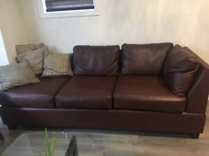 BROWN LEATHER SOFA FOR SALE!!!!