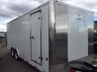 8x20 Enclosed Cargo Trailer with upgraded axles
