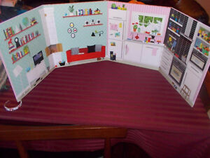 New Ikea doll stand up background play house