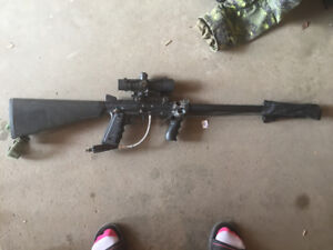 High end paintball gun