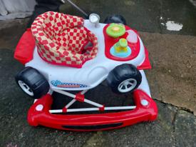 Racing car rocker/walker