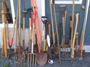 TOOLS FOR SALE JUST IN 2 DOUBLE BIT AXES 3 HATCHETS 2 SWEDEN