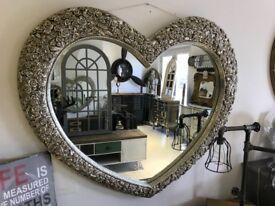 Silver Heart Mirror (new)