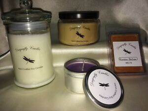 Beautiful hand crafted soy candles