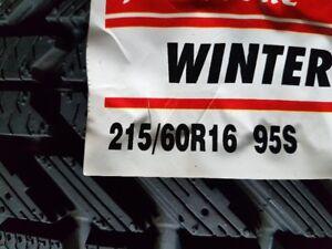 4 X NEW HIVER 215-60-R16 FIRESTONE TIRE NEUFS
