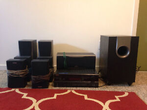 ONKYO Subwoofer and Surround sound system
