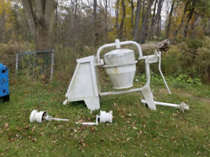 WHITE CEMENT MIXER-ONLY $150. LOCATED IN NEWMARKET.