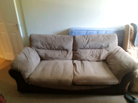 Two piece sofa and armchair
