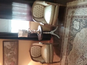 Petty french tufted club chairs