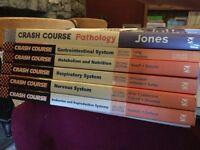 7 Crash course medical text books.