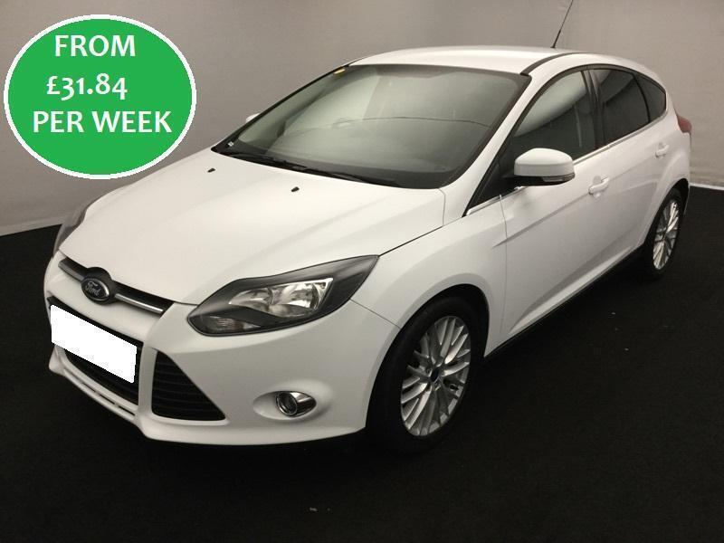 FROM £31.84 PER WEEK Ford Focus 1.0 EcoBoost 100 Zetec Hatchback White