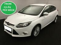 FROM £31.84 PER WEEK Ford Focus 1.0 EcoBoost 100 Zetec Hatchback White