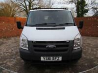 FORD TRANSIT 350 DOUBLE CAB 1 WAY TIPPER LWB 115 BHP ONE STOP CAGE BODY 6 SEATS