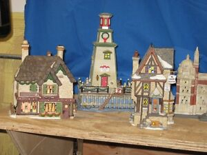 Over 560 Dept 56 Dickens Christmas village pieces
