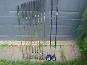 ensemble de golf droitier