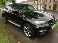 2010 10 BMW X6 3.0TD auto xDrive30d 5 DOOR IN BLACK WITH WHITE LEATHER 4X4