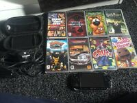 PSP 8games , charger and case