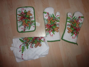 NEW kitchen gloves towel, pot holder, have never been used Kitchener / Waterloo Kitchener Area image 1