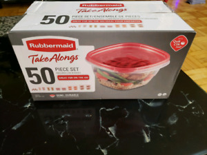 50 piece rubbermaid set
