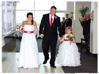 Wedding gown and flower girl dress for sale