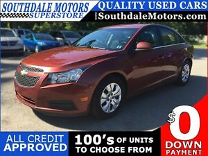 2013 CHEVROLET CRUZE 1LT * 1 OWNER * BLUETOOTH * PREMIUM CLOTH S