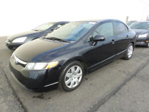 2008 HONDA CIVIC DX , 175K ONLY, AUTOMATIC / CERTIFIED