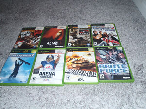 80 orginal xbox games ---------ALL IN CASES !!!