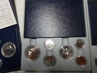 Silver dollars/ Specimen sets