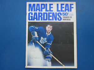 Vintage Maple Leaf Hockey Programs 1965-1966