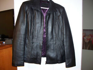 jessica Black Leather Jacket