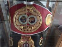 Brand new IBF boxing belt