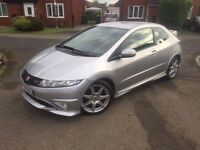 HONDA CIVIC TYPE R GTI V-TEC SILVER 3 DOOR 2008 BARGAIN £3500 PX WELCOME