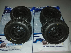 Pro-Line Trencher X 3.8 wheels and tires fit Traxxas - Arrma