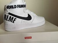 Nike x Supreme Air Force 1 High White - Size 10 DS Authentic