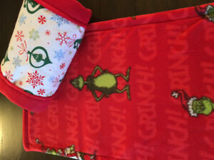 Reduced- New-Grinch, Guinea Pig cage liner and fleece tunnel.
