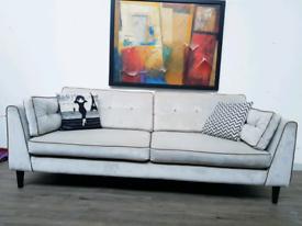 Sofology Cricket 4 seater sofa in dove grey velvet RRO £1099