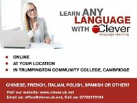 Learn: Online, Home, Local School in Cambridge. Spanish, French, Italian, Polish, Russian, other
