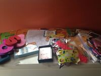 Crafts,books,learning,stickers,markers,cds,material,etc!!