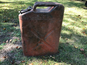 Antique Army fuel Jerry can