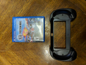 PS Vita with 1 game and ergonomic case