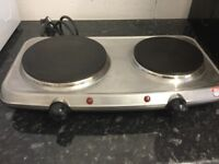 Russell Hobbs silver Stainless steel Double hot plate hard hobs