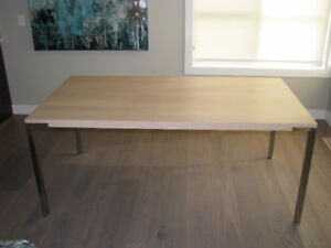 Contemporary White Oak Dining Table